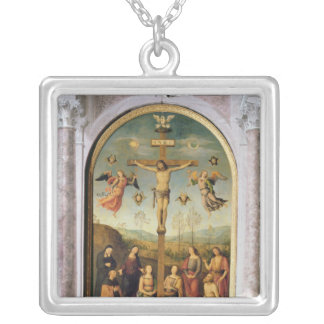 Crucifixion Silver Plated Necklace