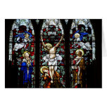 Crucifixion (Stained Glass) Card