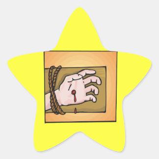 Crucifixion Star Sticker