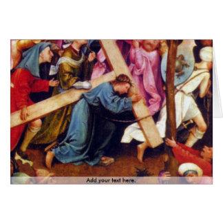 Crucifixion transmission (Christ on Calvary) Card