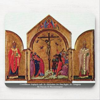 Crucifixion Triptych Left: St. Nicholas Mouse Pad