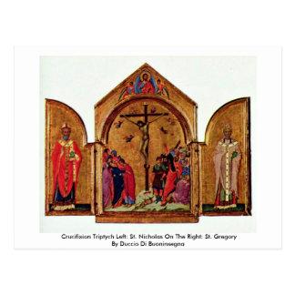 Crucifixion Triptych Left: St. Nicholas Postcard