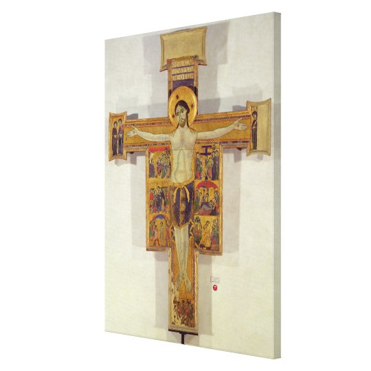 Crucifixion, Tuscan School, second half of 12th ce Canvas Print