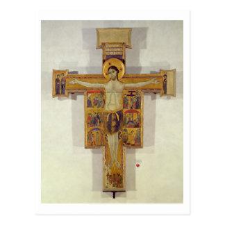 Crucifixion, Tuscan School, second half of 12th ce Postcard