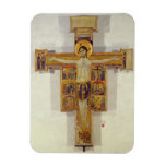 Crucifixion, Tuscan School, second half of 12th ce Rectangular Photo Magnet