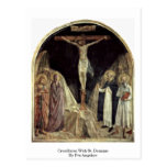 Crucifixion With St. Dominic By Fra Angelico Post Card