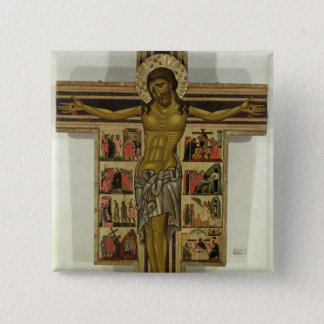 Crucifixion with Stories of the Passion, School of Pinback Button