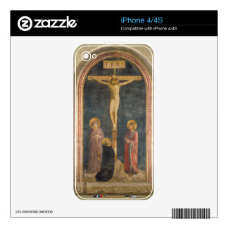 Crucifixion with the Virgin, SS. John the Evangeli Decal For iPhone 4S