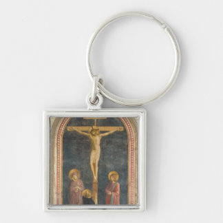 Crucifixion with the Virgin, SS. John the Evangeli Keychain