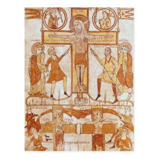 Crucifixión y división de ropa del tarjetas postales