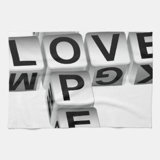 Crucigrama del amor de la esperanza toalla de cocina