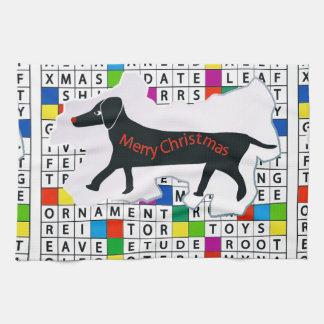 Crucigrama del perro con el Dachshund Toalla