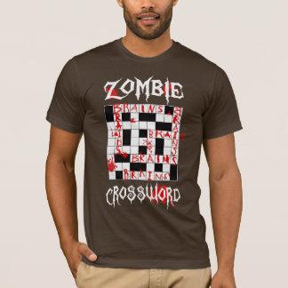 Crucigrama del zombi playera