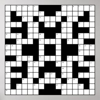 Crucigrama Póster
