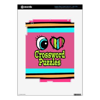 Crucigramas brillantes del amor del corazón I del  iPad 3 Skins