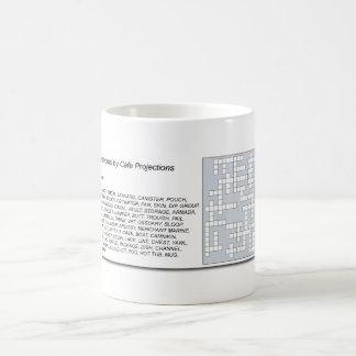 Crucigramas de la taza de café - taza de café de