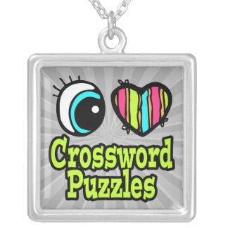 Crucigramas de neón del amor del corazón I del ojo Grimpola