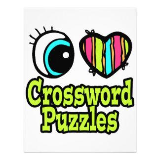 Crucigramas de neón del amor del corazón I del ojo Comunicados Personales