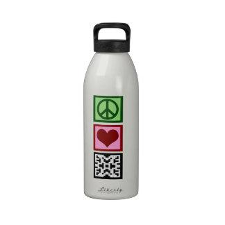 Crucigramas del amor de la paz botallas de agua