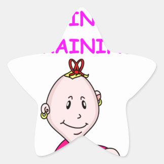 cruciverbalist baby star sticker