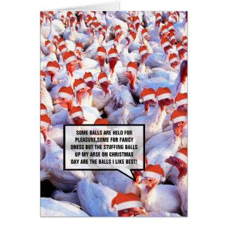 Crude Christmas Turkey Card