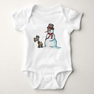 Crude Snowman Infant Creeper