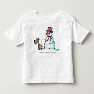 Crude Snowman Toddler T-Shirt