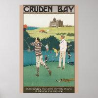 Cruden Bay Vintage Travel Poster