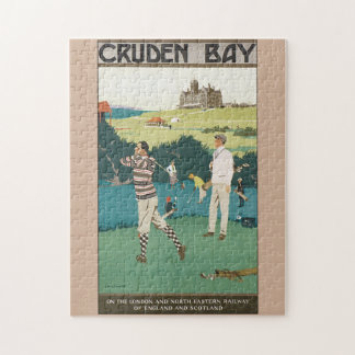 Cruden Bay Vintage Travel Poster Jigsaw Puzzle