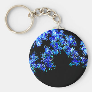 Cruel Blue Abstract Keychain