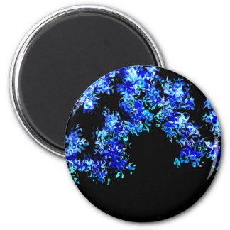 Cruel Blue Abstract 2 Inch Round Magnet