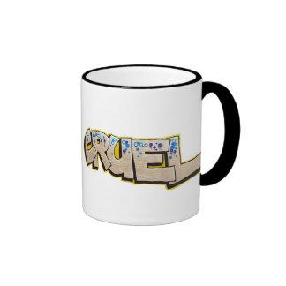 cruel graffiti mug