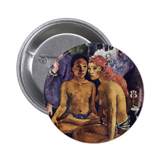Cruel Tales Exotic Saying By Gauguin Paul Buttons