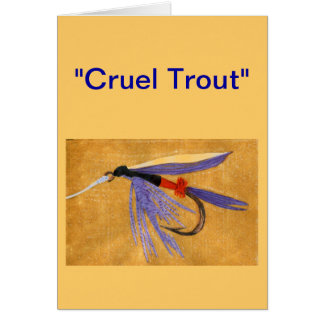 """Cruel Trout"" Greeting Card ""Freight Train"""