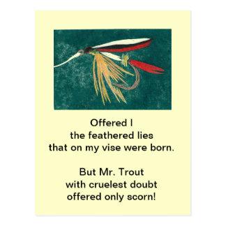"Cruel Trout Postcard ""Trout Fin"""