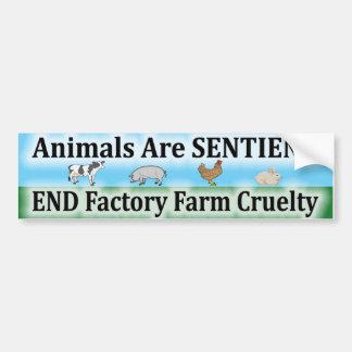 Crueldad de la granja de la fábrica del extremo pegatina de parachoque