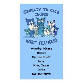 Crueldad lastimada de Felines a los gatos Tarjetas De Visita