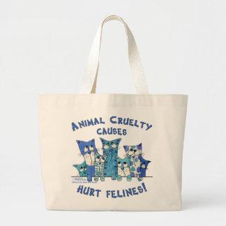 Crueldad lastimada del animal de Felines Bolsas