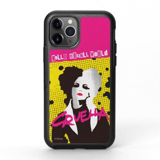 Cruella | Hello Cruell World Ransom Stencil Art OtterBox Symmetry iPhone 11 Pro Case