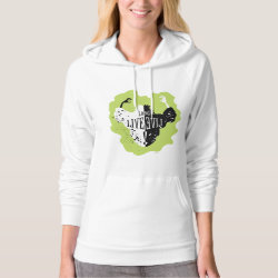Women's American Apparel California Fleece Pullover Hoodie with Cruella: Long Live Evil design