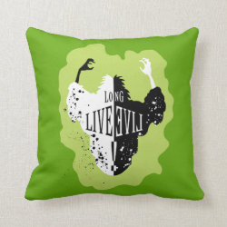 Cruella: Long Live Evil Cotton Throw Pillow