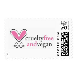 """Cruelty Free and Vegan"" Custom Postage Stamps"