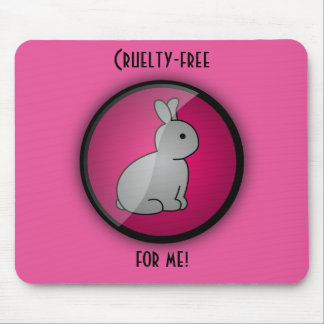 Cruelty-free Bunny Mouse Pad