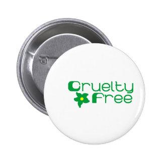 Cruelty Free Flower Design Button