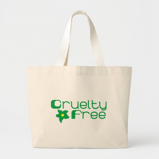 Cruelty Free Flower Design Canvas Bags