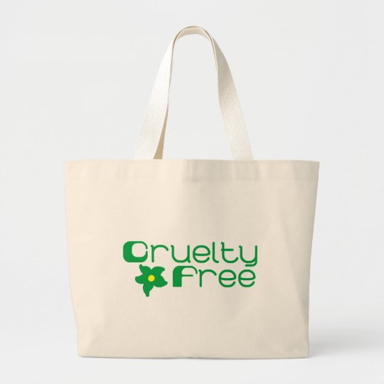 Cruelty Free Flower Design Large Tote Bag