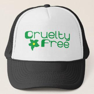 Cruelty Free Flower Design Trucker Hat