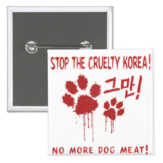"""Cruelty Free For Our Friends"" Button:Korea Button"