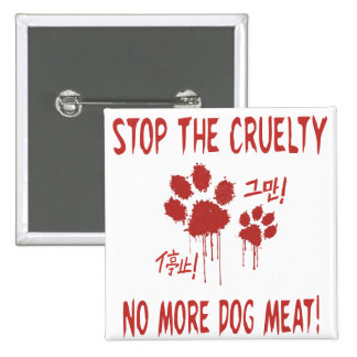 """Cruelty Free For Our Friends""Button:Korea & China Pinback Button"