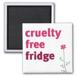 Cruelty Free Fridge - Flower 2 Inch Square Magnet